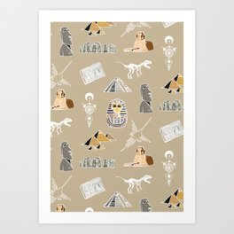 Archeo pattern Art Print