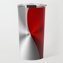 Metallic Red & Silver Geometric Design Travel Mug