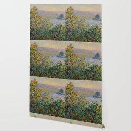 """Claude Monet """"Flower Beds at Vétheuil"""" Wallpaper"""