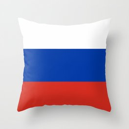 Russian Flag In Red White And Blue Throw Pillow