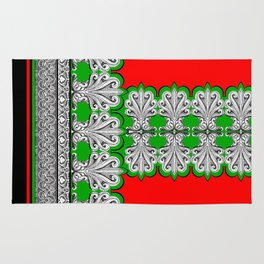 Holiday Frett Panel Print Rug