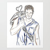 daryl dixon Art Prints featuring Daryl Dixon by Salina Ayala