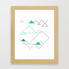 Tree Angle Green Framed Art Print