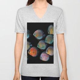 Wild discus fish Unisex V-Neck