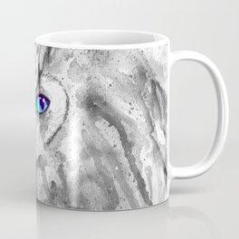 black and white: owl Coffee Mug