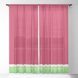 Watermelon Sheer Curtain