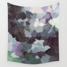 Dark Green Lilac Purple Gray Black Abstract Wall Art, Painting Art, Modern Wall Art Wall Tapestry