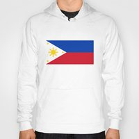 philippines Hoodies featuring Republic of the Philippines national flag (50% of commission WILL go to help them recover) by Bruce Stanfield