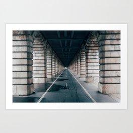 Bercy bridge Art Print