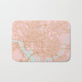 Washington DC map Bath Mat