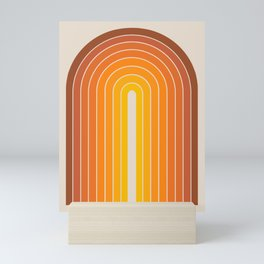 Gradient Arch - Vintage Orange Mini Art Print