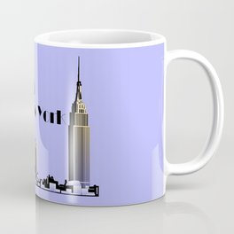 New York New York skyline retro 1930s style Coffee Mug