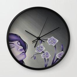 Wallflower Girl Wall Clock