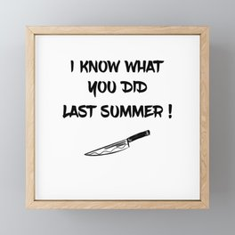 I KNOW WHAT YOU DID LAST SUMMER Framed Mini Art Print