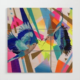 Geo Fly Birds Wood Wall Art