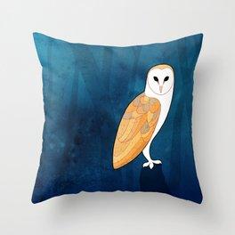 Barn owl (Tyto alba) Throw Pillow