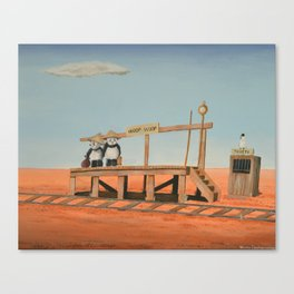 Outback Train Station Canvas Print