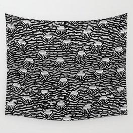 Dark Moon Surface Wall Tapestry