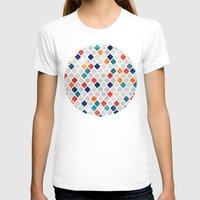 moroccan T-shirts featuring Sea & Spice Moroccan Pattern by micklyn