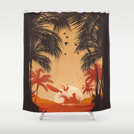 Summertime Madness Shower Curtain