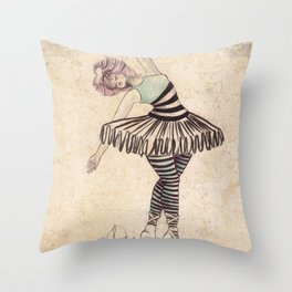 The Ballerina Dream Throw Pillow