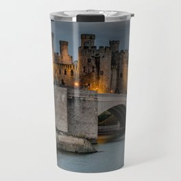 Conwy Castle by Lamplight Travel Mug