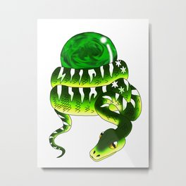 Snake Piece #32 - Magic Materia Metal Print