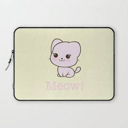 Pastel Kitten Kawaii Laptop Sleeve