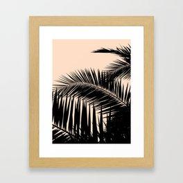 Palms on Pale Pink Framed Art Print