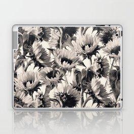 Sunflowers in Soft Sepia Laptop & iPad Skin