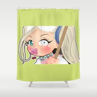 artrave Shower Curtains featuring art rebellion  by Chimi-uzz