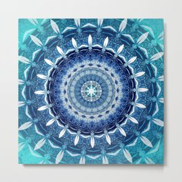 Absolute Zero Mandala Metal Print
