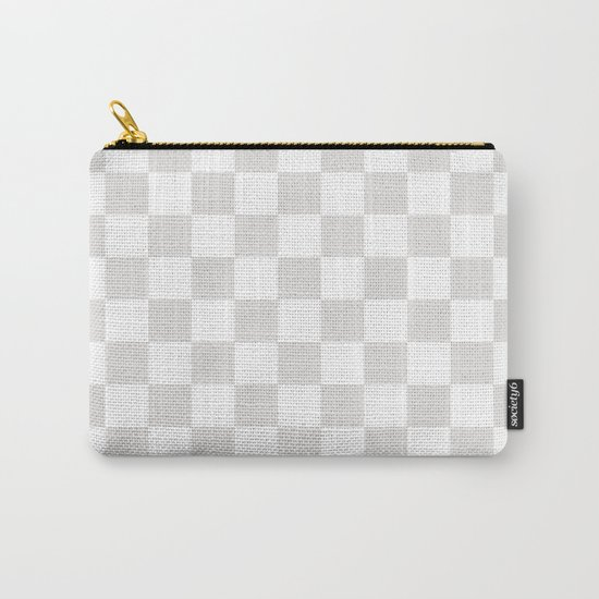 Checker (Platinum/White) Carry-All Pouch