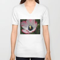 tulip V-neck T-shirts featuring Tulip by Vitta