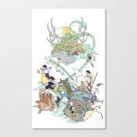 ghibli Canvas Prints featuring Ghibli by Alba Palacio