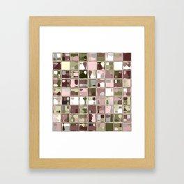 Pink Camo Mosaic Pattern Art Framed Art Print