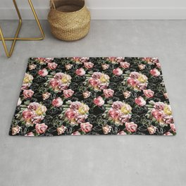 Love fall rose Rug