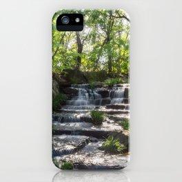 Beautiful Stream in a Japanese Garden in Himeji, Japan. iPhone Case