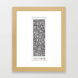 Work Arsenal Framed Art Print