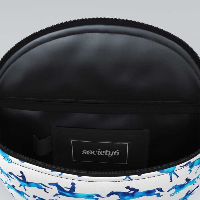 Showjumping Horse Sequence (Blue) Fanny Pack
