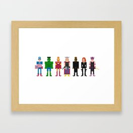 The Pixel A Vengers Framed Art Print
