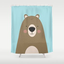 Bears Are Friendly Shower Curtain