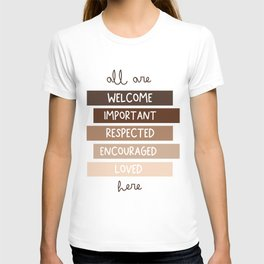 All are welcome - Kids Print T-shirt