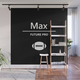 Max - Football Black and White Wall Mural