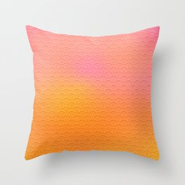 sunset scales Throw Pillow
