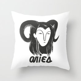 Aries Girl Throw Pillow