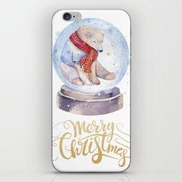 Christmas bear #1 iPhone Skin
