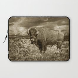 American Buffalo in Sepia Tone Laptop Sleeve