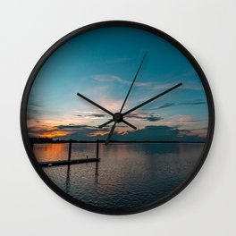 Walk By The River Wall Clock