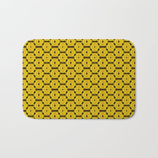 Buttons and Bows - Yellow Bath Mat